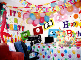 birthday room decoration for baby image inspiration of cake and