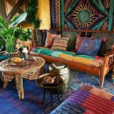 an indian inspired living room