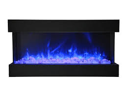 electric fireplace truview 40 blue blue top light