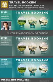 travel booking facebook timeline cover template