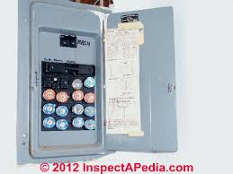 commercial grade federal pacific electric fpe stab lok® panel Circuit Breaker Fuse Box fuse breaker hybrid fpe stab lok electrical panel (c) inspectapedia ralph specht fuse box and circuit breaker