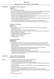 Junior Architect Resume Samples Velvet Jobs