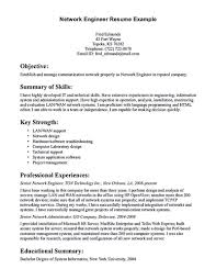 Network Engineer Resume Nowadays Becomes So Popular It Is Because
