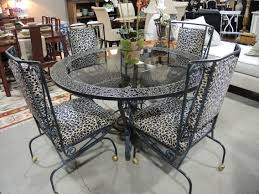 rectangle glass top table with white wrought iron legs vintage wrought iron dining table and chairs