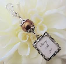 bouquet charm wedding photo brown pearl and small