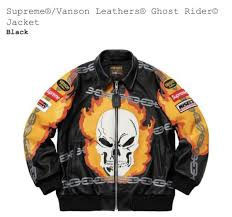 supreme vanson leathers ghost rider jacket new black medium sold out