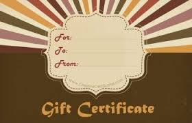 Shopping Spree Gift Certificate Template Free Printable And Editable Gift Certificate Templates