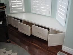 Window seat with storage Cushion There Was Enough Room For Deep Drawers In The Middle Plus Couple Of Cabinet Doors On The Ends To Take Advantage Of The Area In Front Of The Angled Pinterest There Was Enough Room For Deep Drawers In The Middle Plus