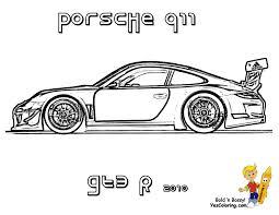 Gusto Car Coloring Pages Porsche Corvette Free Coloring