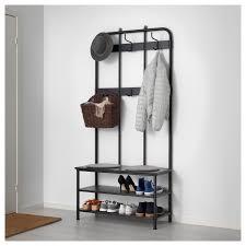 Coat Rack Storage Bench Coat Rack With Shoe Storage Bench Black 100 Pe100 S100 with 56