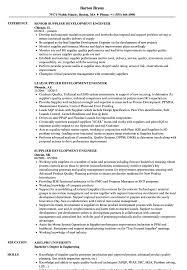 Domestic Engineer Resume Examples Best of Supplier Development Engineer Resume Samples Velvet Jobs