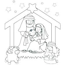 Precious Moments Christmas Nativity Coloring Pages Free Nativity