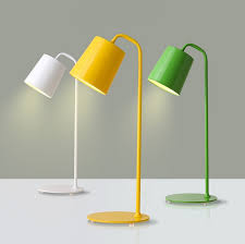 modern office lamps. Nordic Modern Iron Desk Lamps Creative Red / Green Eye Study Reading Work LED Table Lamp Personality Office ZA-in From Lights E