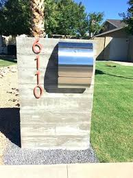 modern mailbox dwell. Unique Modern Modern Mailboxes Fascinating Curved Front Stainless Steel  Mailbox Curbside Or Wall Picture For To Modern Mailbox Dwell O
