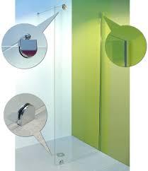 wetroom shower glass screen kit