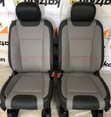 details about 2017 2018 ford f 250 xlt supercrew katzkin leather seat covers black gray lim