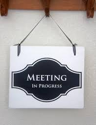 Office Door Sign Meeting In Progress Sign Open Sign 2 Etsy
