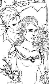 Couple Coloring Pages Vampire Diaries Colouring Pages Drawings