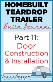 homebuilt teardrop trailer 11 door construction