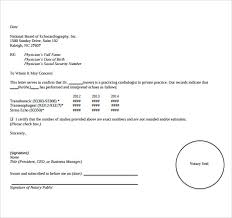 Samples Of Notary Letters Sample Notary Letter Business Mentor