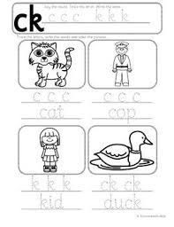 Have the students trace the word. Phonics Worksheets Lesson Plan Flashcards Jolly Phonics C K Ck Lesson Pack
