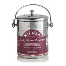 kitchen compost bin cream