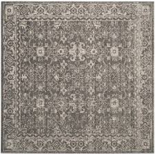 safavieh evoke gray ivory 7 ft x 7 ft square area rug