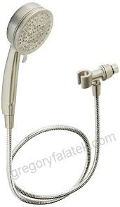 moen 26015srn caldwell hand held shower head set multi function 25 gpm spray with hose brushed