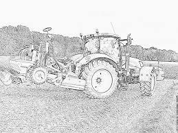 Tracteur Dessin Tracteur Imprimer Avec Remorque Coloriage Remorque