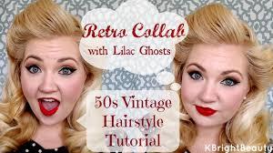 50s vine hair tutorial retro collab w lilac ghosts kbrightbeauty you