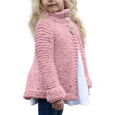 Crochet Baby Sweater Size Chart Amazon Com Toddler Kids Baby Girls Knitted Sweater
