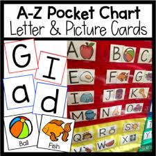 A Z Pocket Chart Letter Picture Cards