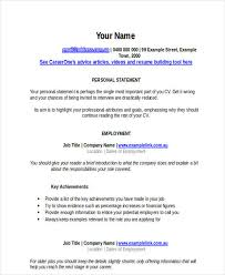 It Resume Examples Simple 28 IT Resume Templates In Word Free Premium Templates