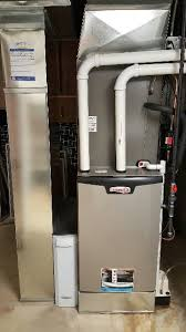 lennox system. lennox slp98- 98% efficient modulating furnace installed with aprilaire air cleaning system. this system