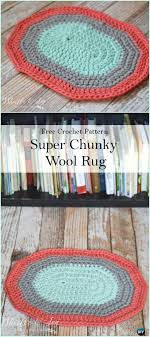 crochet super chunky oval rug free pattern crochet area rug ideas free patterns