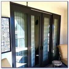 sliding glass door with screen on inside off track