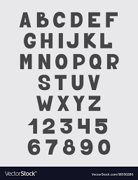 Letters In Design Alphabet Design Set Numbers And Letters