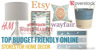 budget friendly online stores for home decor
