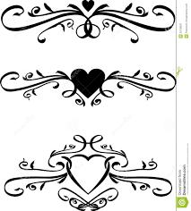 Scroll Heart Set Of Vector Heart Scrolls Stock Vector Illustration Of