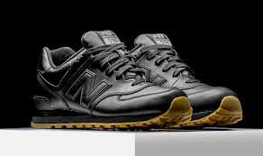 new balance 574 black. almost every brand has given us an \u201call black\u201d or mostly black silhouette for the summer, and up next we have one more from new balance. balance 574 h