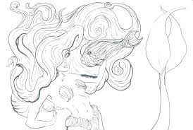 Detailed Mermaid Coloring Pages Zupa Miljevcicom