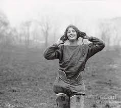 Female Football Captain Gladys Scherer by Bettmann