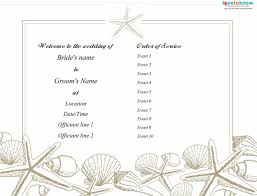 37 Printable Wedding Program Examples Templates