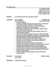 Home Health Aide Resume Template Free Printable