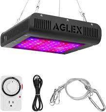 Wishful Led Grow Lights 600w Led Grow Light For Indoor Plants Double Chips Full Spectrum Plant Grow Lamp With Timer Uv And Ir For Greenhouse Indoor Plant Veg And Flower