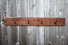 Reclaimed Wood Wall Coat Rack Reclaimed Striped Wood Wall Coat Rack Vintage 100 Handmade Wall 32