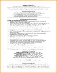 Warehouse Supervisor Cover Letter Example Warehouse Distribution Manager Sample Resume Podarki Co