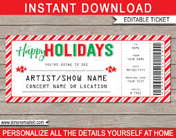 Show Ticket Template Fake Concert Ticket Printable Template Surprise Tickets To A Concert