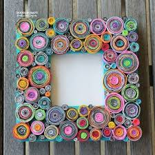 paper photo frame rolled ideas craft with diy 3d