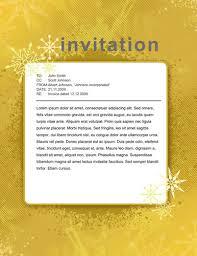 christmas invitation templates  printable invitations christmasyellowinvitationsample